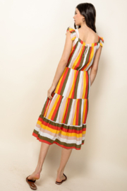 Thml Fluttery Mixed Print Midi Dress - Product Mini Image