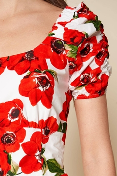 Sugarlips Fly Away Floral Print Ruched Sleeve Mini Dress - Alternate List Image