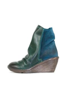 Shoptiques Product: Blue Wedge Boot