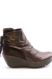 Fly London Leather Wedge Bootie - Front full body