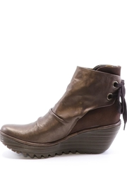 Fly London Leather Wedge Bootie - Product Mini Image