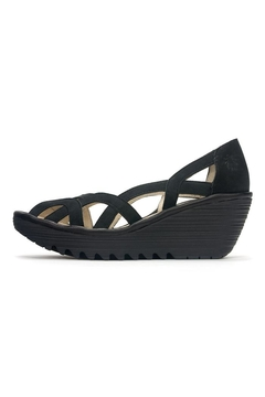 Fly London Suede Peep Toe Wedge - Product List Image