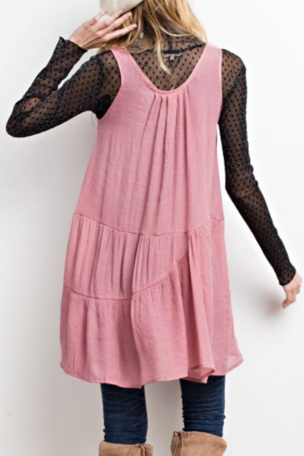 easel Flyaway Layering Tunic - Front Full Image