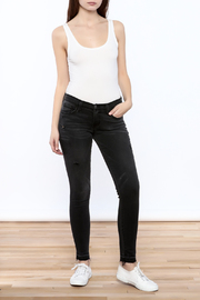 Flying Monkey Distressed Black Jean - Front full body