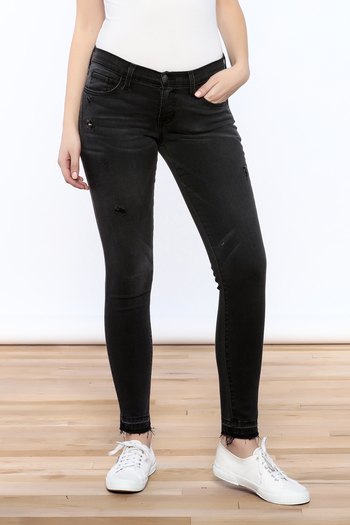 Shoptiques Product: Distressed Black Jean - main