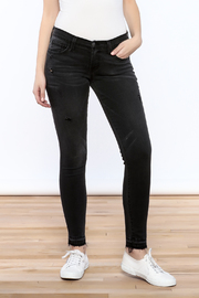 Flying Monkey Distressed Black Jean - Front cropped