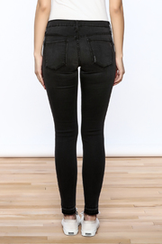 Flying Monkey Distressed Black Jean - Back cropped