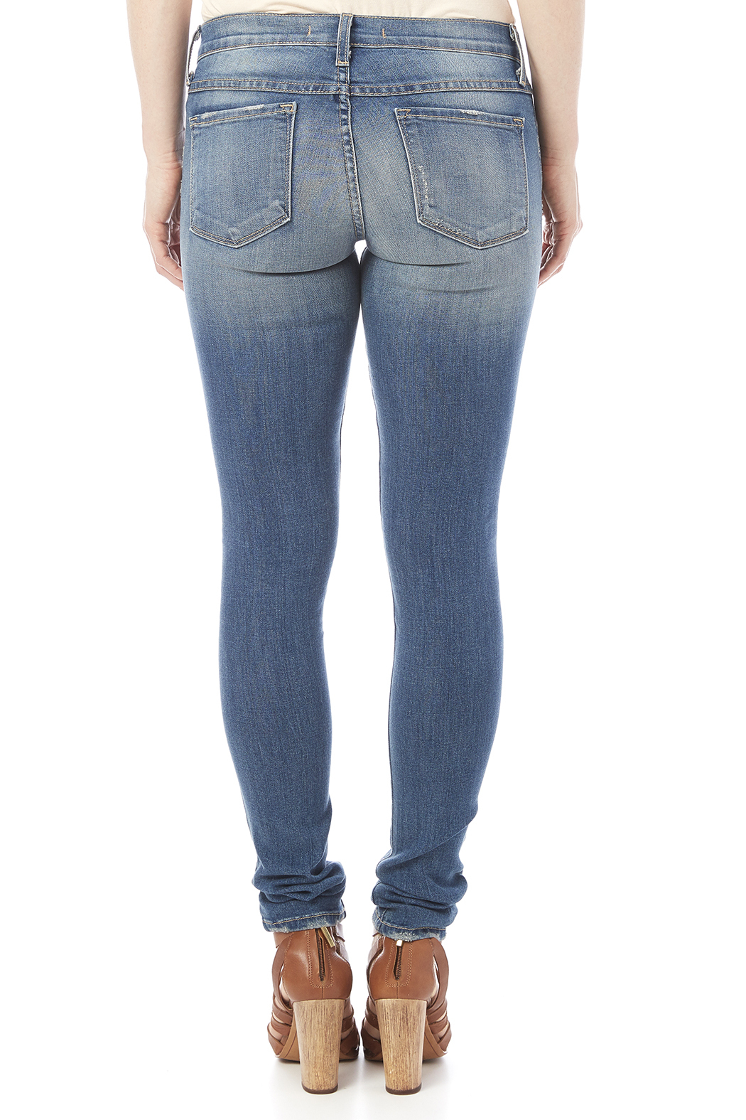 Flying Monkey Distressed Skinny Jean - Back Cropped Image
