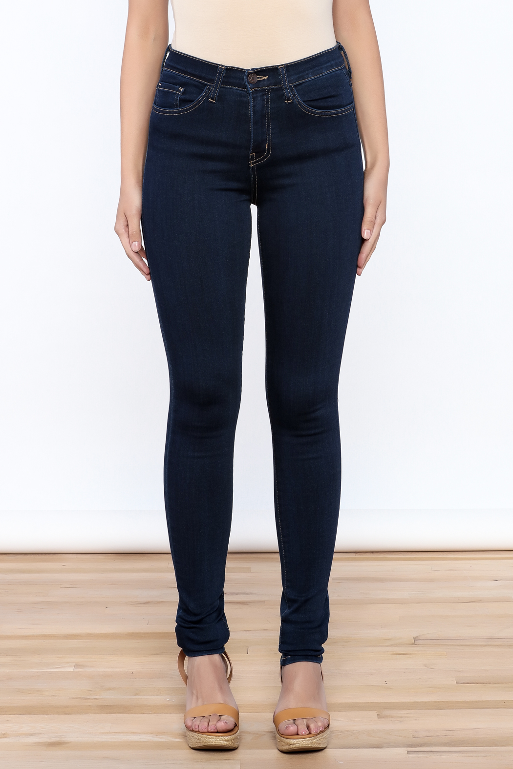 Flying Monkey High Waisted Jeans - Front Full Image