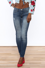 Flying Monkey Skinny Distressed Jeans - Product Mini Image