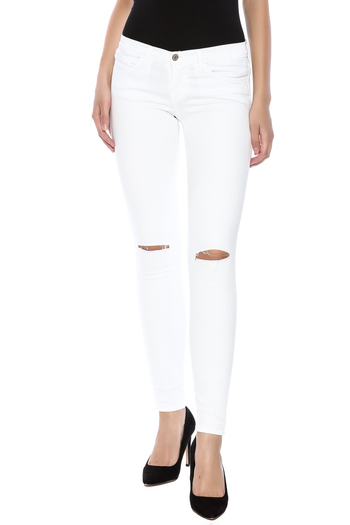 Shoptiques Product: Slashed Knee Skinny - main