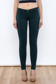 Flying Monkey Teal Skinny Jeans - Side cropped
