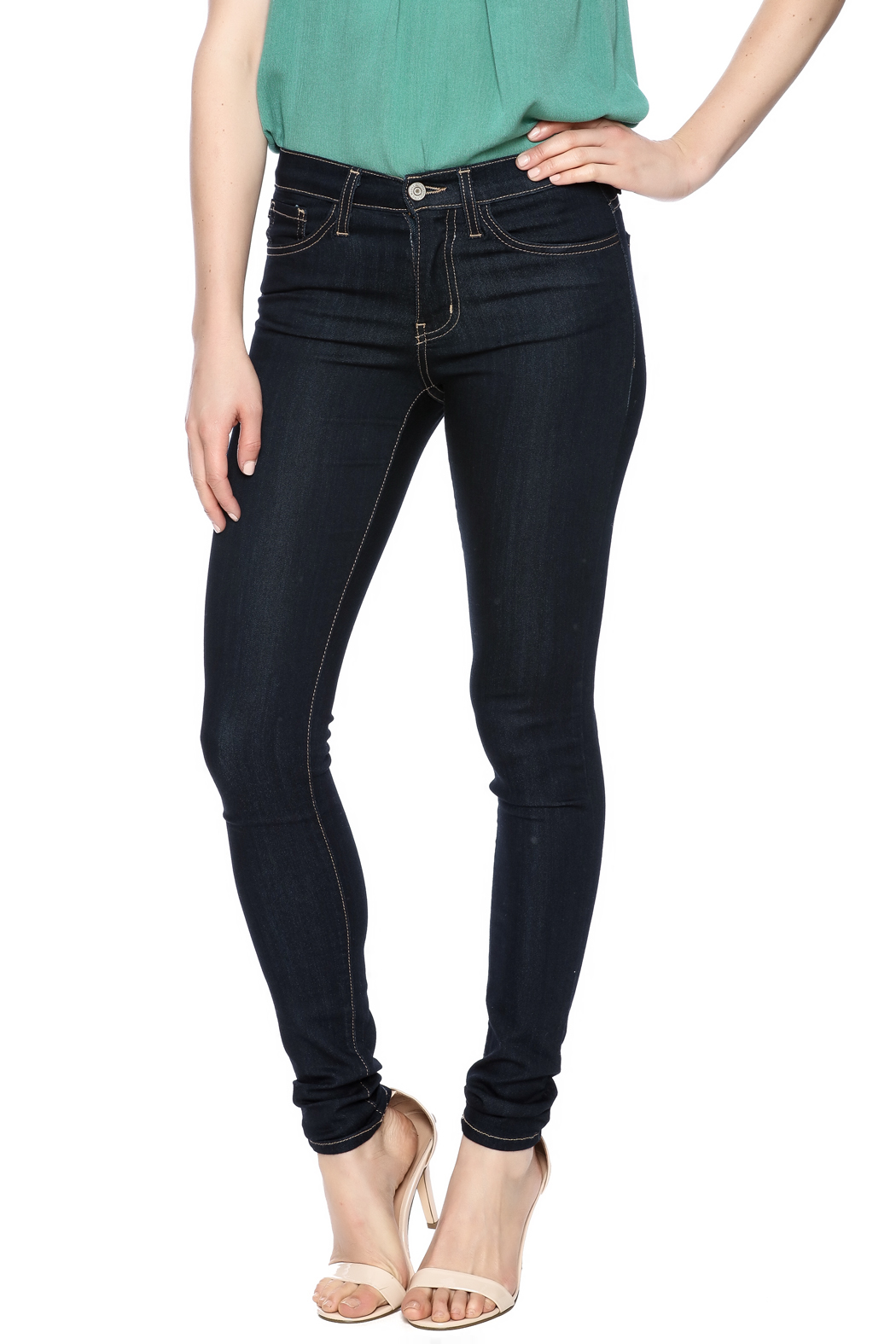Flying Monkey High Waist Skinny Jean - Front Cropped Image