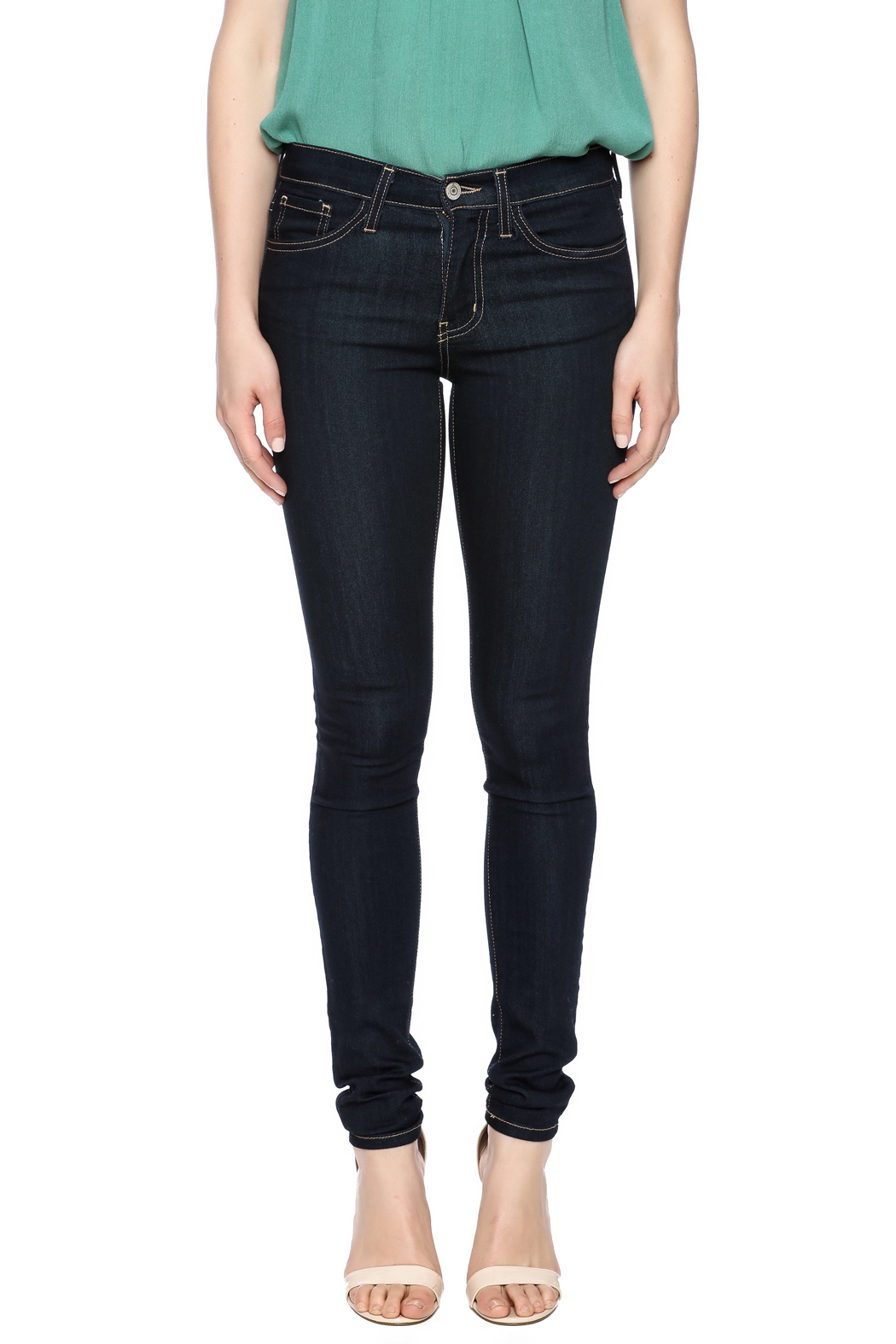 Flying Monkey High Waist Skinny Jean - Side Cropped Image