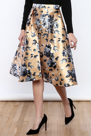 Flying Tomato Champagne Floral Skirt - Product Mini Image
