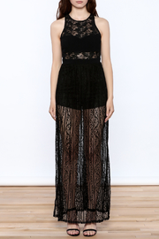 Flying Tomato Black Lace Dress - Front cropped