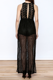 Flying Tomato Black Lace Dress - Back cropped