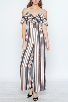 Flying Tomato Off-Shoulder Ruffle Jumpsuit - Product List Image