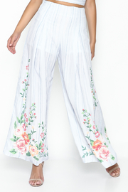 Flying Tomato Floral Printed Pants - Product Mini Image