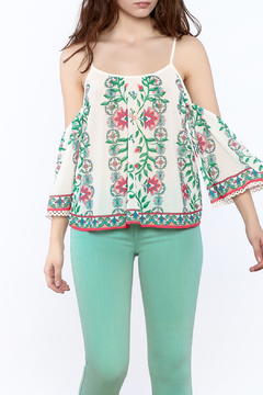 Flying Tomato Print Cold Shoulder Top - Product List Image