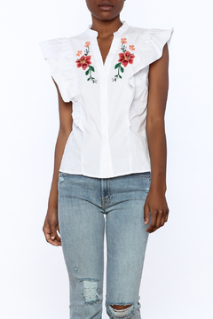 Shoptiques Product: Ruffle Embroidered Top