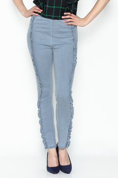 Shoptiques Product: Ruffle Trim Pants