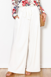 Flying Tomato White Palazzo Pants - Front full body