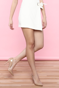 Shoptiques Product: White Self Tie Skirt