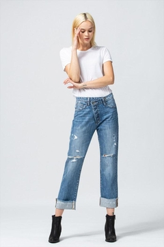 Shoptiques Product: Asymmetrical Waistband Jeans