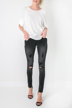 Flying Monkey Black Distressed Denim - Product List Image