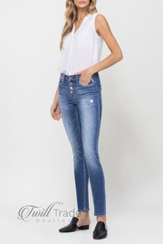 Flying Monkey Button Up Crop Skinny Jeans - Product Mini Image