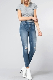 Flying Monkey Distressed Skinny Jeans - Front cropped