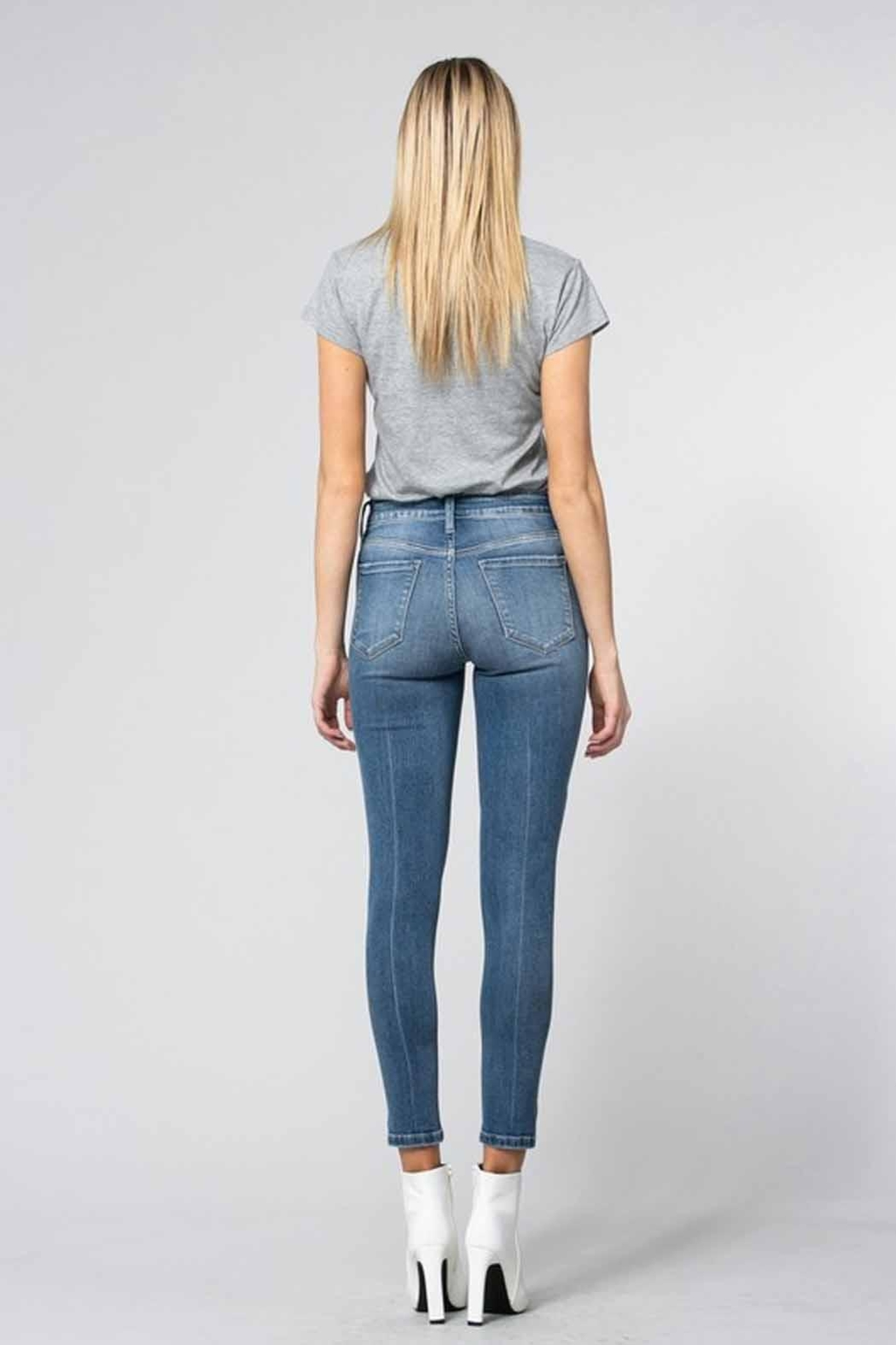 Flying Monkey Distressed Skinny Jeans - Side Cropped Image
