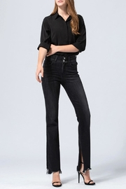 Flying Monkey Distressed Slit Flare Jeans - Product Mini Image
