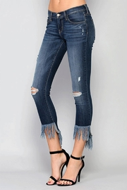 Flying Monkey Fringe Step Crop Jean - Front full body
