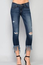 Flying Monkey Fringe Step Crop Jean - Product Mini Image