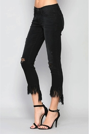 Flying Monkey Fringe Step-Hem Cropped-Jeans - Front full body