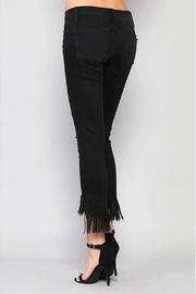 Flying Monkey Fringe Step-Hem Cropped-Jeans - Side cropped