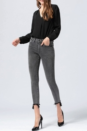 Flying Monkey Grey Washed Jeans - Front cropped