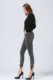 Flying Monkey Grey Washed Jeans - Side cropped