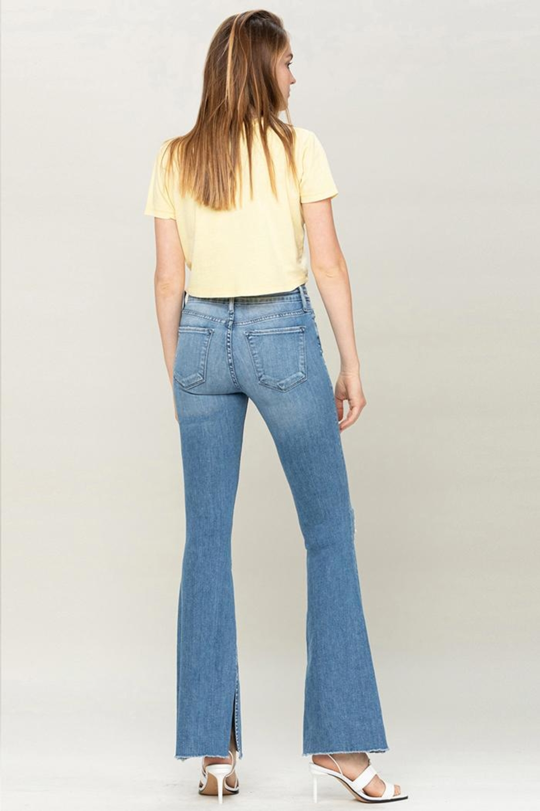 Flying Monkey Mid-Rise Flare Jeans - Side Cropped Image