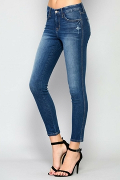 Flying Monkey Crop Light Denim - Product List Image