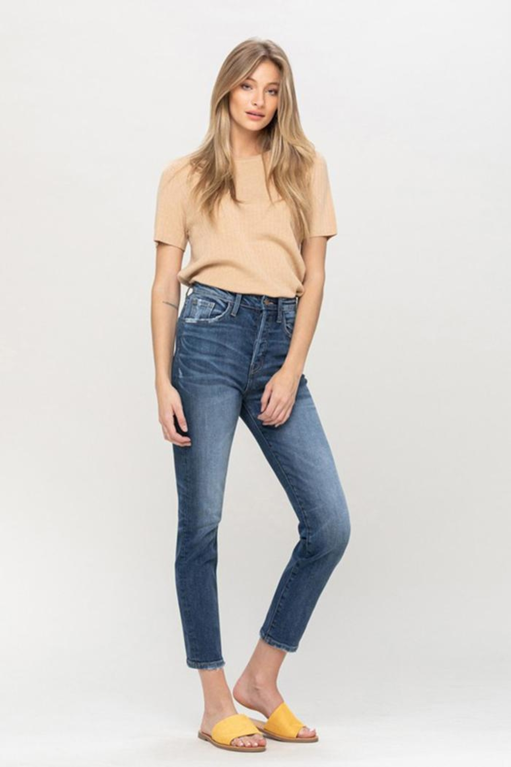 Flying Monkey Mom Stretch Jeans - Front Full Image