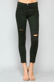 Flying Monkey Olive Distressed Denim Jeans - Product Mini Image