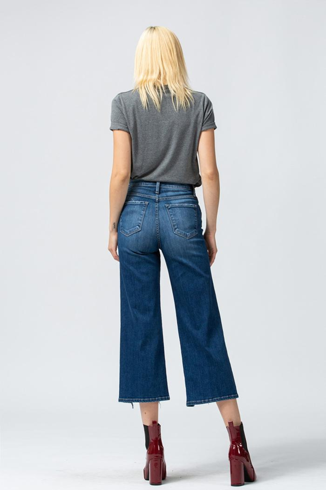 Flying Monkey Wide Leg Jeans - Back Cropped Image