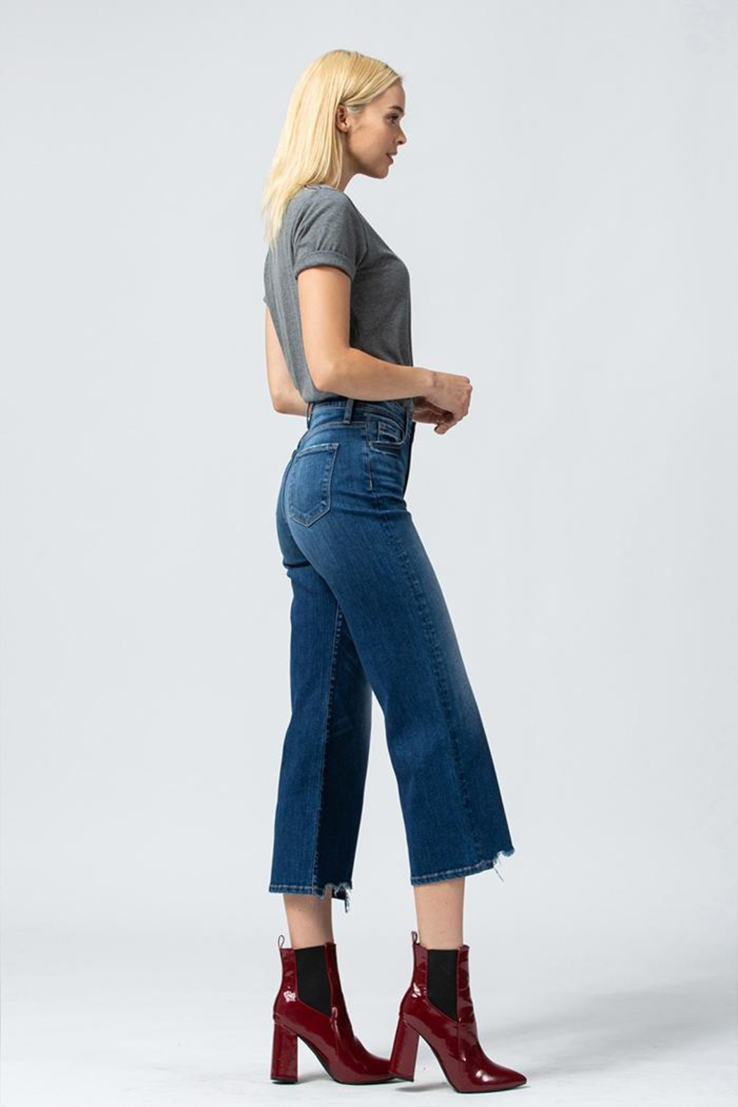 Flying Monkey Wide Leg Jeans - Side Cropped Image