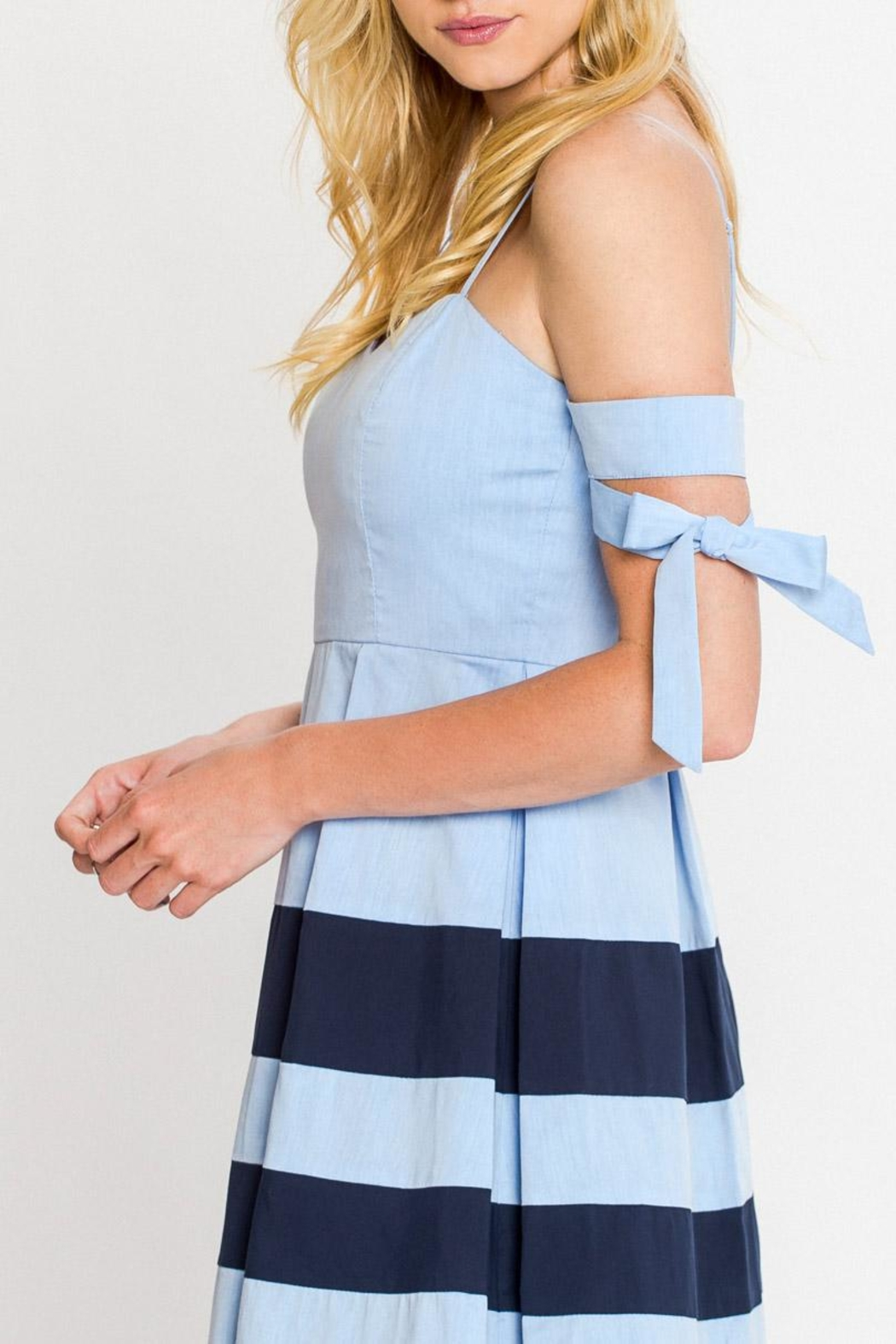 Flying Tomato A-Line Nautical Dress - Front Full Image