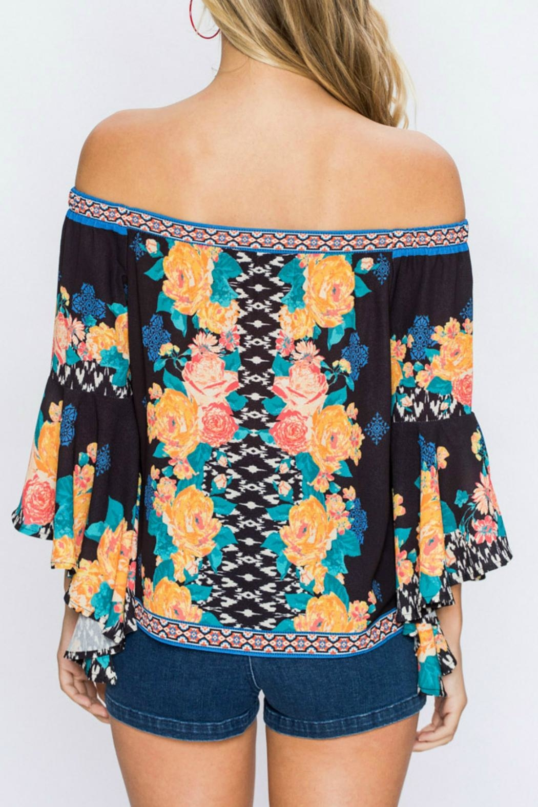 Flying Tomato Arika Floral Top - Side Cropped Image