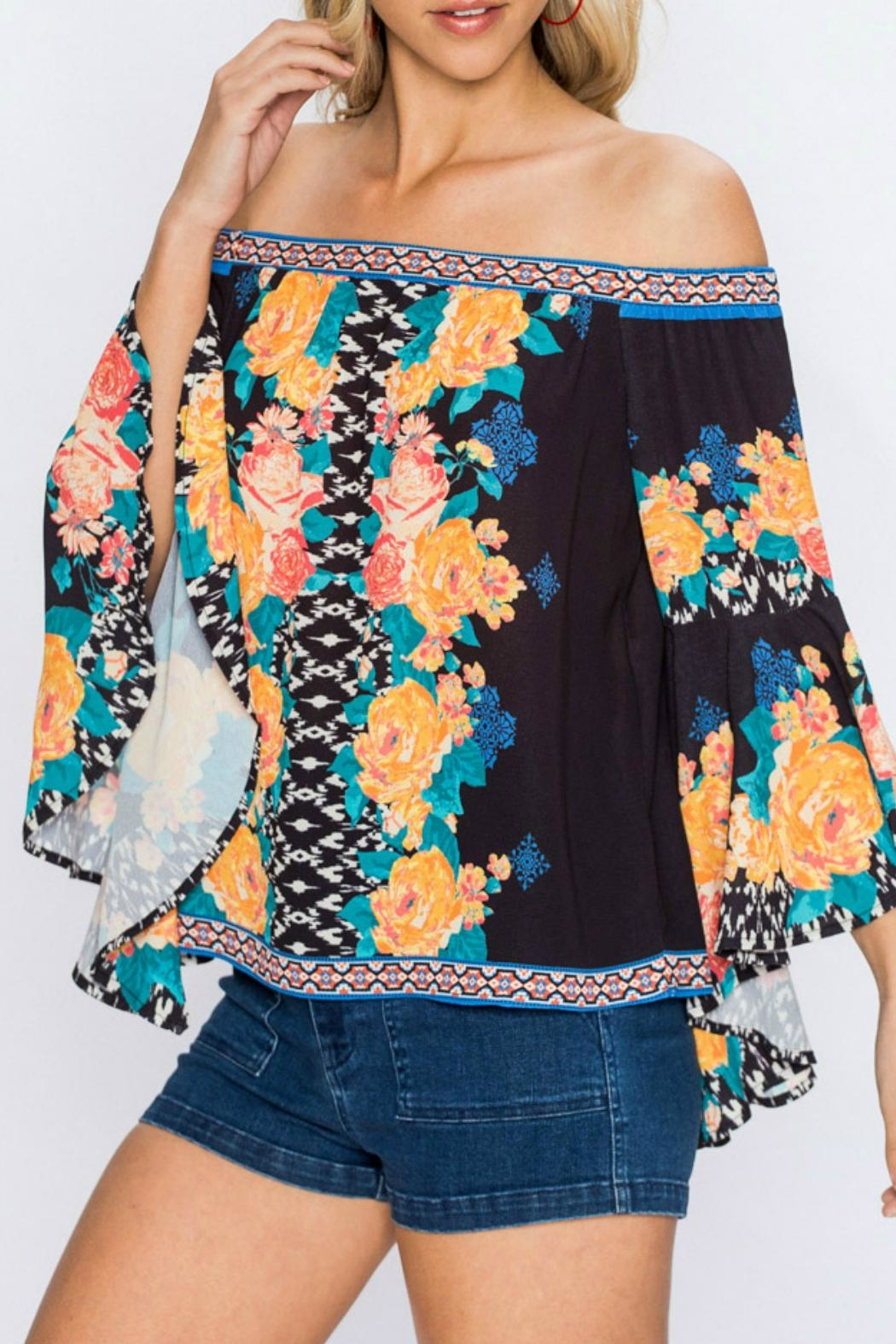 Flying Tomato Arika Floral Top - Front Full Image