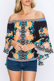 Flying Tomato Arika Floral Top - Front cropped